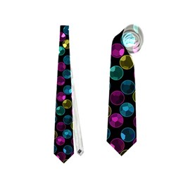 Polka Dot Sparkley Jewels 2 Neckties (Two Side)