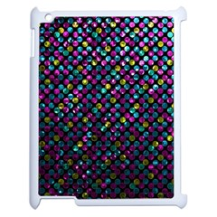 Polka Dot Sparkley Jewels 2 Apple iPad 2 Case (White)
