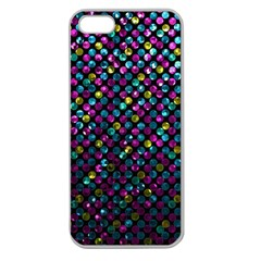 Polka Dot Sparkley Jewels 2 Apple Seamless iPhone 5 Case (Clear)