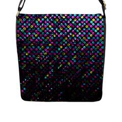 Polka Dot Sparkley Jewels 2 Flap Messenger Bag (L)