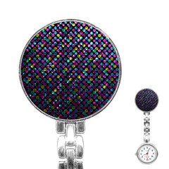 Polka Dot Sparkley Jewels 2 Stainless Steel Nurses Watches