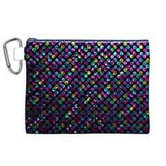 Polka Dot Sparkley Jewels 2 Canvas Cosmetic Bag (XL)