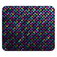 Polka Dot Sparkley Jewels 2 Double Sided Flano Blanket (small)