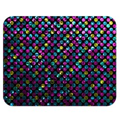 Polka Dot Sparkley Jewels 2 Double Sided Flano Blanket (Medium)