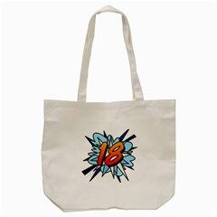 Comic Book 18 Blue Tote Bag (cream)