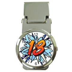 Comic Book 18 Blue Money Clip Watches
