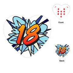 Comic Book 18 Blue Playing Cards (Heart)