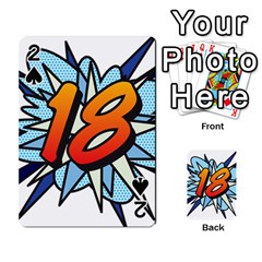 Comic Book 18 Blue Playing Cards 54 Designs