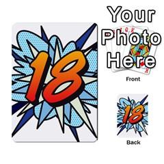 Comic Book 18 Blue Multi Purpose Cards (rectangle)