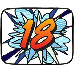 Comic Book 18 Blue Fleece Blanket (Mini)