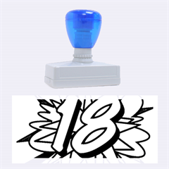 Comic Book 18 Blue Rubber Stamps (large)