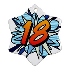 Comic Book 18 Blue Ornament (Snowflake)