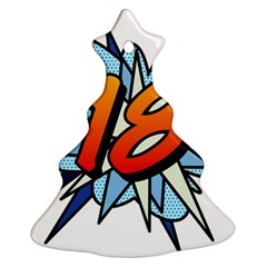 Comic Book 18 Blue Christmas Tree Ornament (2 Sides)