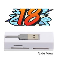 Comic Book 18 Blue Memory Card Reader (stick)