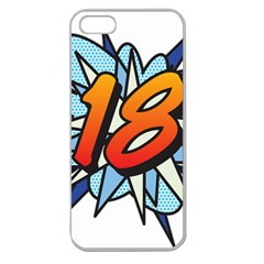 Comic Book 18 Blue Apple Seamless iPhone 5 Case (Clear)