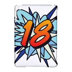 Comic Book 18 Blue Apple iPad Mini Hardshell Case (Compatible with Smart Cover)