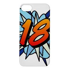 Comic Book 18 Blue Apple iPhone 5S Hardshell Case