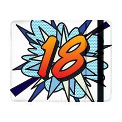 Comic Book 18 Blue Samsung Galaxy Tab Pro 8.4  Flip Case