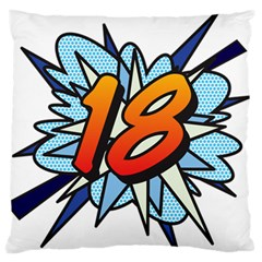 Comic Book 18 Blue Large Flano Cushion Cases (One Side)