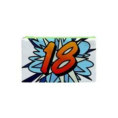 Comic Book 18 Blue Cosmetic Bag (XS)