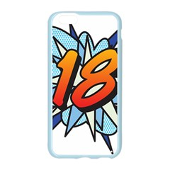 Comic Book 18 Blue Apple Seamless iPhone 6/6S Case (Color)