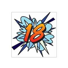 Comic Book 18 Blue Satin Bandana Scarf