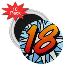 Comic Book 18 Blue 2.25  Magnets (10 pack)