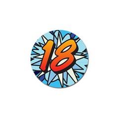 Comic Book 18 Blue Golf Ball Marker (10 pack)