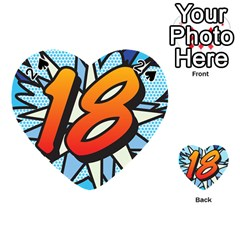 Comic Book 18 Blue Playing Cards 54 (heart)