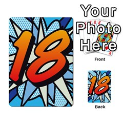 Comic Book 18 Blue Multi Purpose Cards (rectangle)