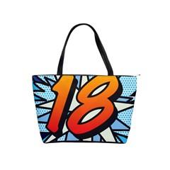 Comic Book 18 Blue Shoulder Handbags