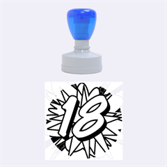 Comic Book 18 Blue Rubber Round Stamps (medium)