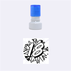 Comic Book 18 Blue Rubber Round Stamps (small)