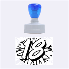 Comic Book 18 Blue Rubber Oval Stamps