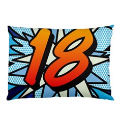 Comic Book 18 Blue Pillow Cases (Two Sides)