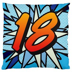 Comic Book 18 Blue Large Cushion Cases (One Side)