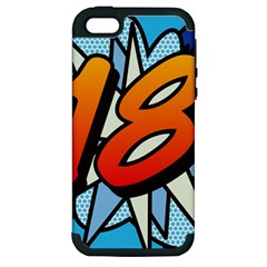 Comic Book 18 Blue Apple iPhone 5 Hardshell Case (PC+Silicone)