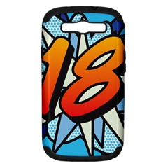 Comic Book 18 Blue Samsung Galaxy S III Hardshell Case (PC+Silicone)