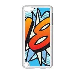Comic Book 18 Blue Apple iPod Touch 5 Case (White)