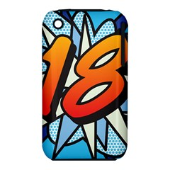 Comic Book 18 Blue Apple iPhone 3G/3GS Hardshell Case (PC+Silicone)