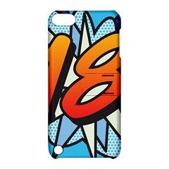 Comic Book 18 Blue Apple iPod Touch 5 Hardshell Case with Stand