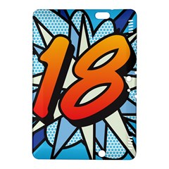 Comic Book 18 Blue Kindle Fire HDX 8.9  Hardshell Case