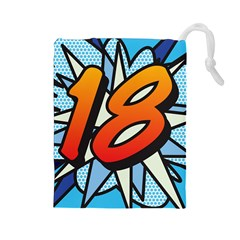 Comic Book 18 Blue Drawstring Pouches (Large)