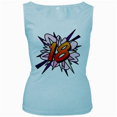 Comic Book 18 Pink Women s Baby Blue Tank Tops