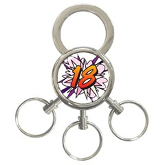 Comic Book 18 Pink 3-Ring Key Chains