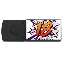 Comic Book 18 Pink USB Flash Drive Rectangular (2 GB)