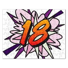 Comic Book 18 Pink Rectangular Jigsaw Puzzl