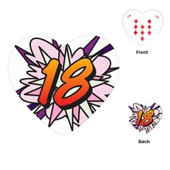 Comic Book 18 Pink Playing Cards (Heart)