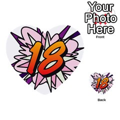 Comic Book 18 Pink Multi-purpose Cards (Heart)