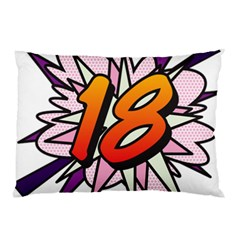 Comic Book 18 Pink Pillow Cases (Two Sides)